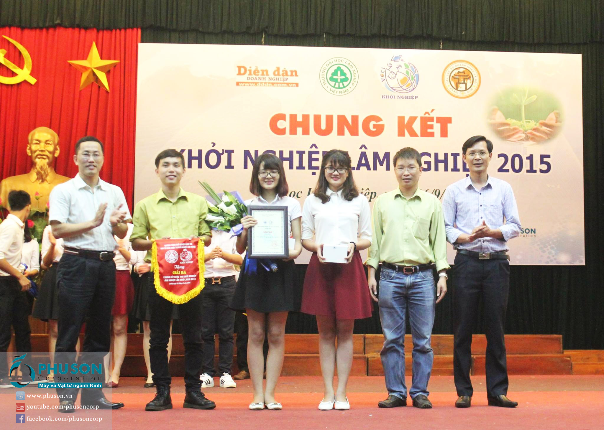 PHU SON Corporation attended the start-up project at the University of Forestry