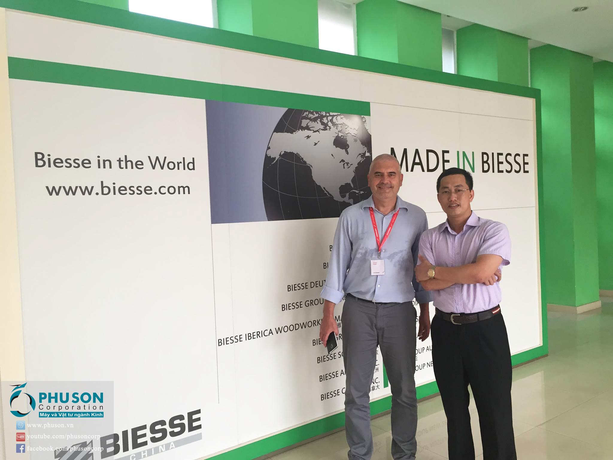 Chuyến thăm nhà máy INTERMAC – BIESSE Group Italy tại Trung Quốc của PHU SON Corporation
