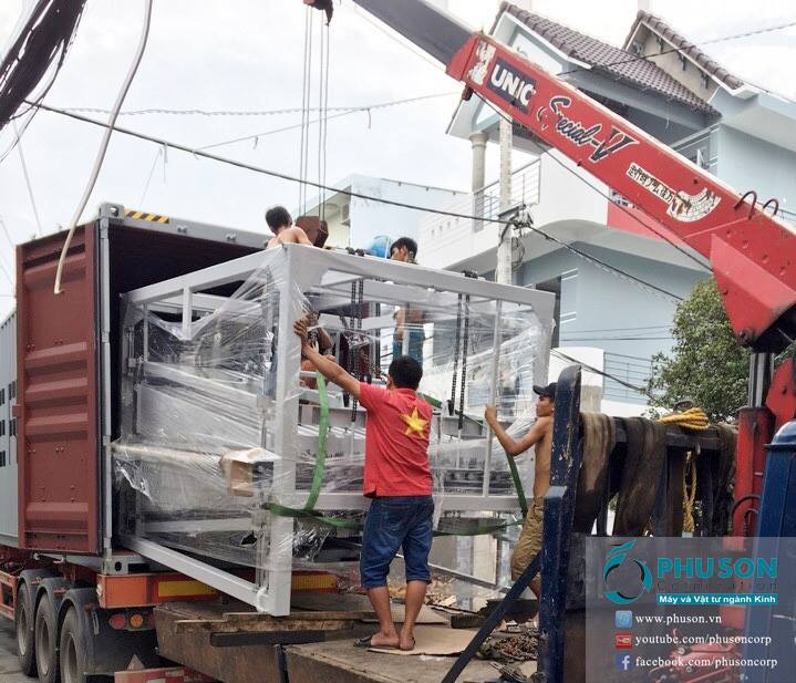 Installation of TIMBERY Automatic Safety Tempered Glass Production line at MINH PHAT GLASS factory