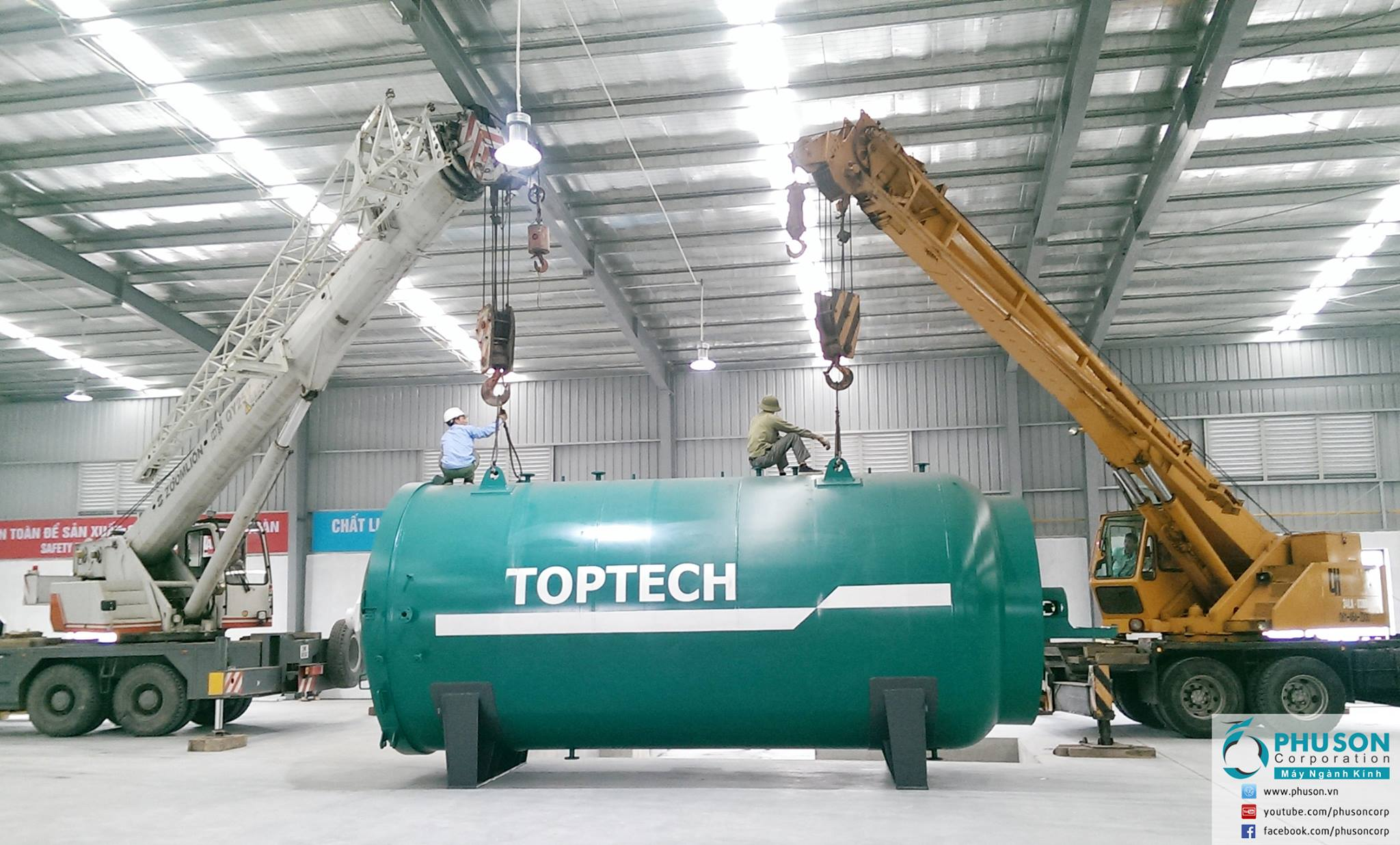 TOPTECH automatic glass production line – HASKY factory.