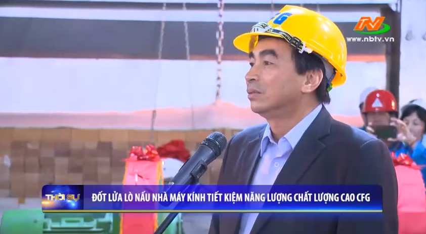 The firing ceremony of the first floating glass production line in Southeast Asia's largest glass-making complex of INDEVCO Group in Ninh Binh