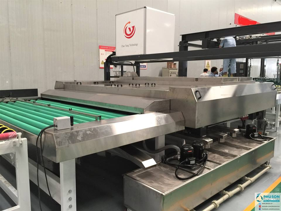Automatic production line of safety glass CHAOYANG at TOAN TIEN GLASS