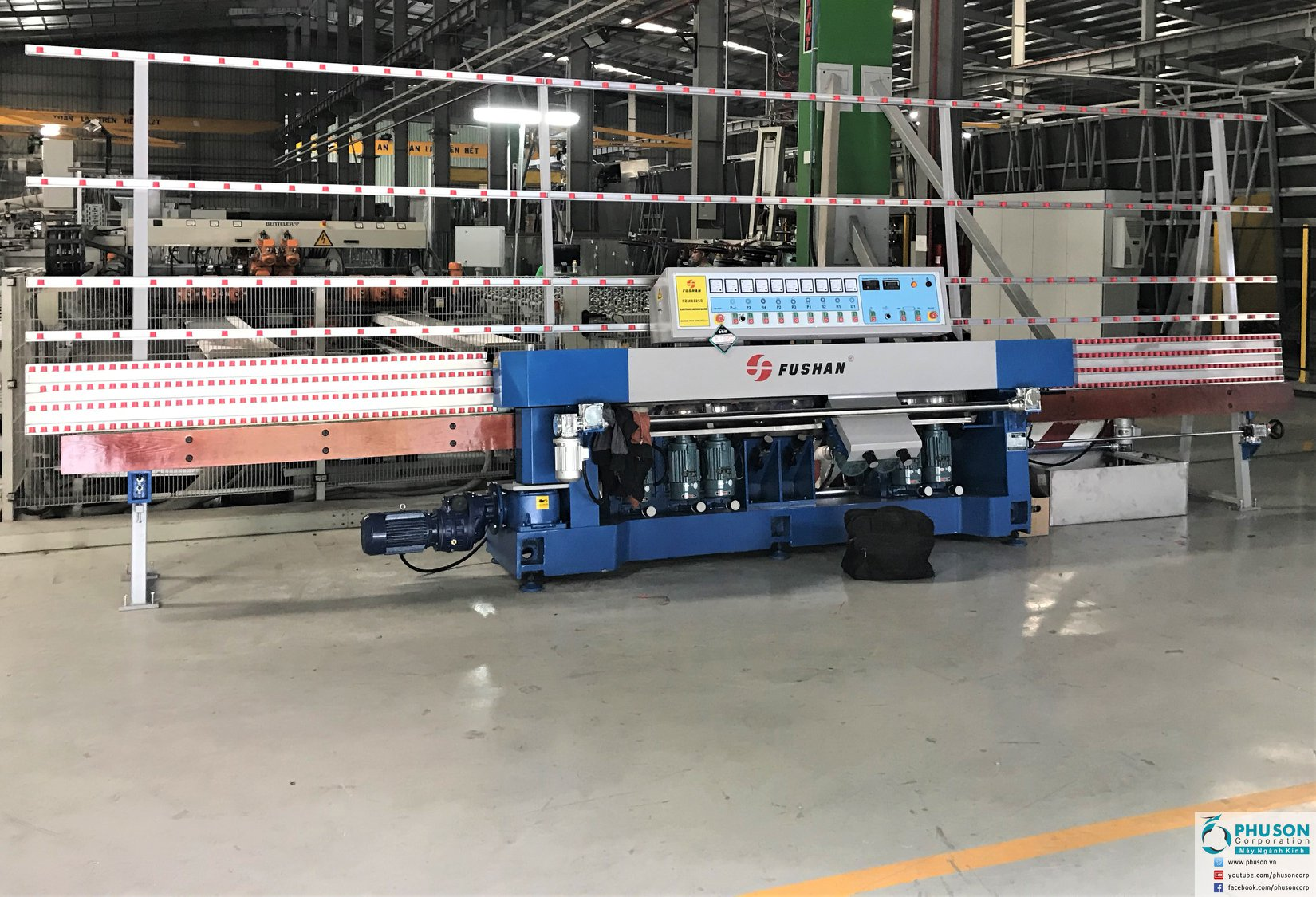 FUSHAN Double eding machines at SADO GROUP factory