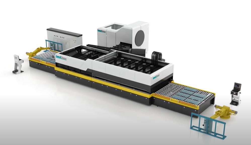 Dây chuyền tự động sản xuất kính cường lực phẳng LANDGLASS JetConvection Series.