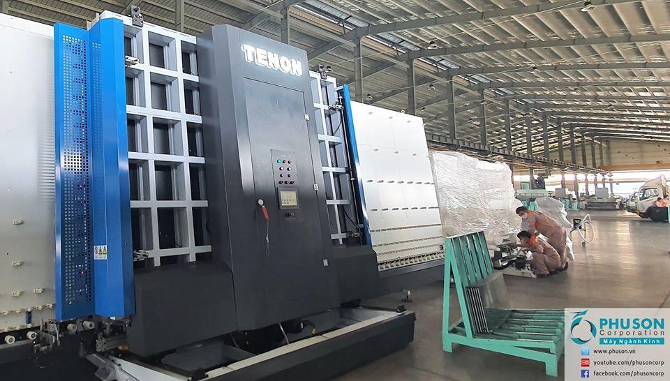 Robot bơm keo hai thành phần sản xuất kính hộp cách âm cách nhiệt tiết kiệm năng lượng TENON