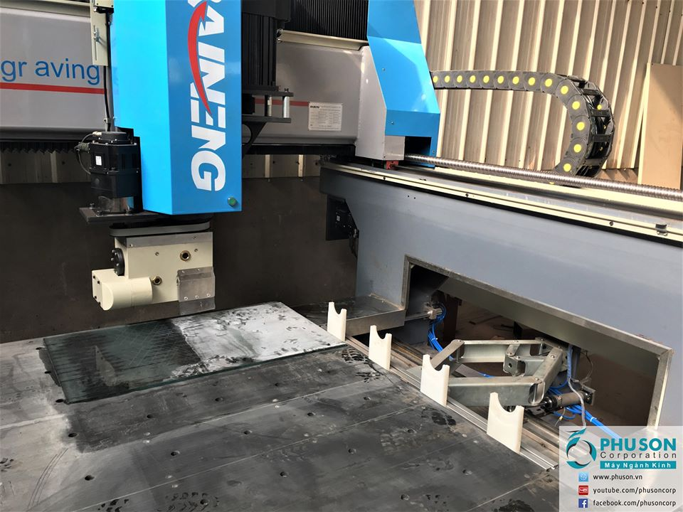 BAINENG 4-axis CNC center polishing polisher on the surface