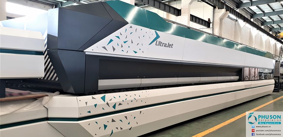 LANDGLASS UltraJet Series large format curved and flat tempered glass production line